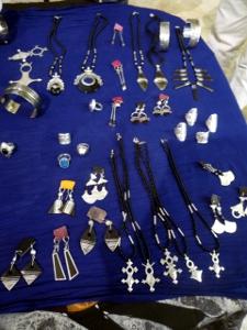 Gioielli Tuareg in argento ed ebano